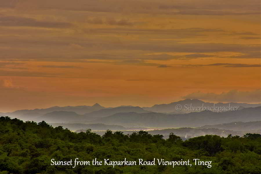 Sunset over the Abrenian Landscape from Kaparkan Road