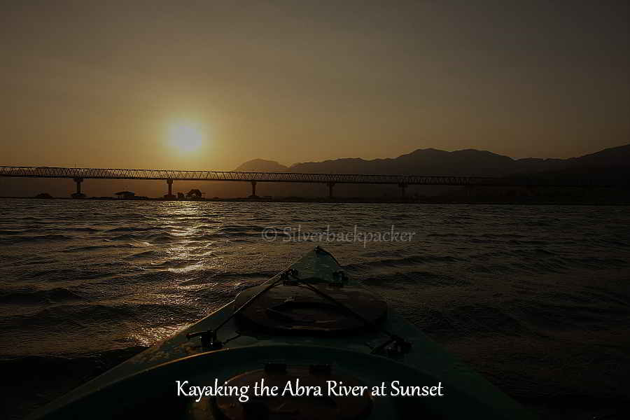 Kayaking the Abra River at Sunset