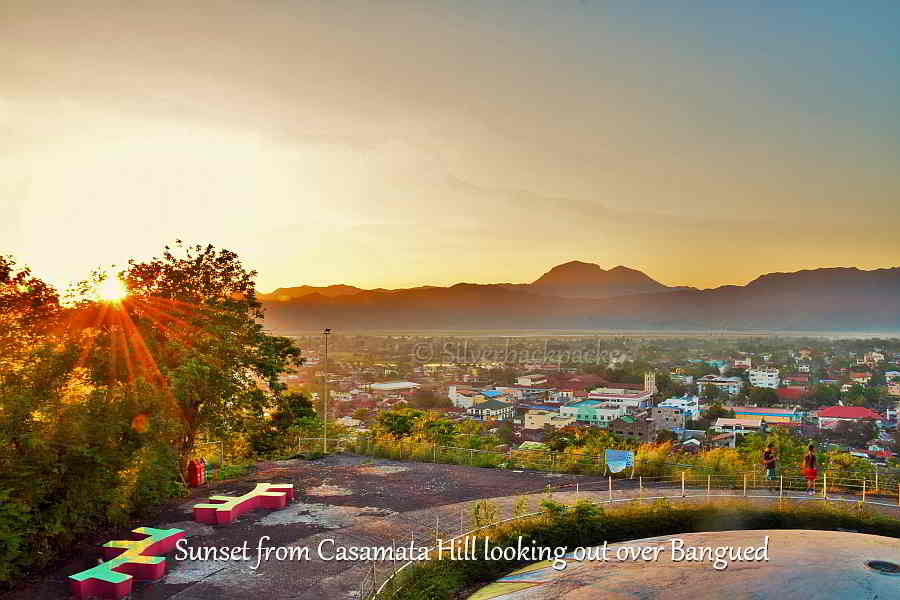 Sunset  from Casamata Hill, Bangued. Sleeping Beauty