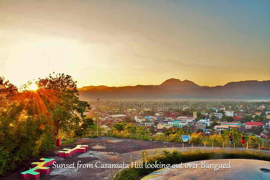 Sunset  from Casamata Hill, Bangued. Sleeping Beauty