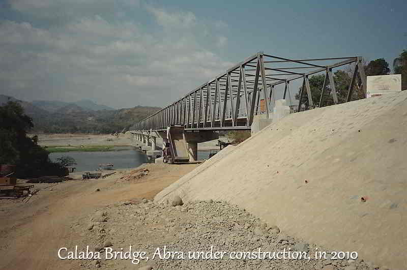 Calaba Bridge, Abra finishing stages of construction in 2010