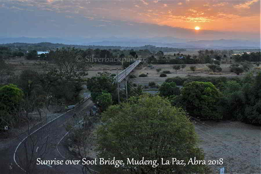 Sunrise over Soot Bridge, Mudeng, La Paz, Abra