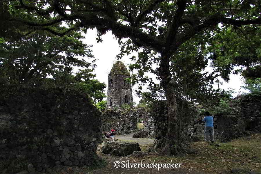 Cagsawa Church bell tower and ruins
