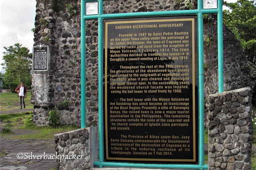 Cagsawa Church history and Marker