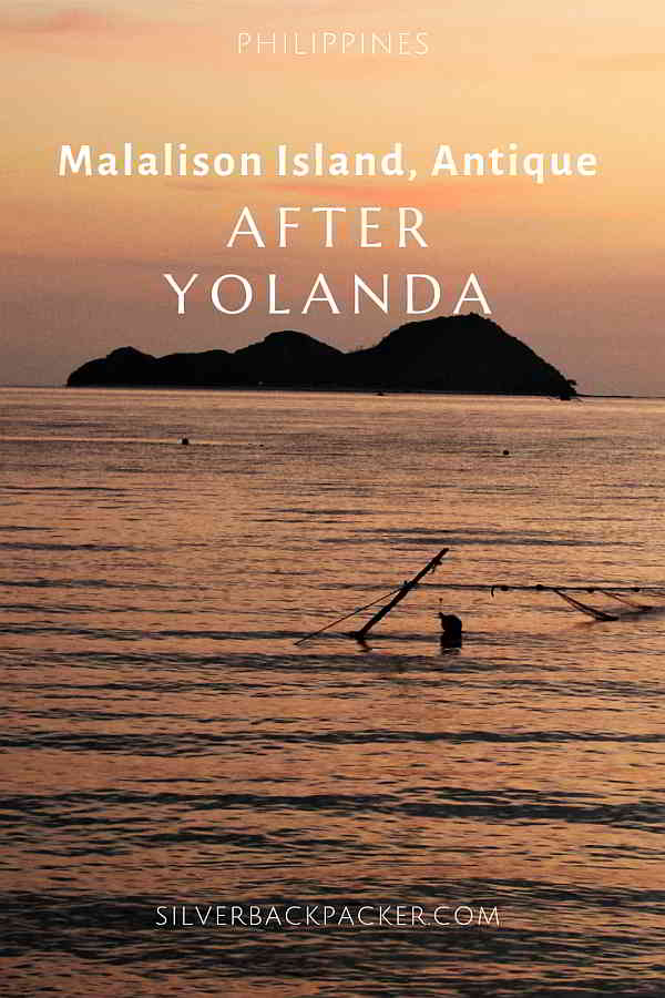 Malalison Island Culasi, Antique, Philippines. after typhoon yolanda