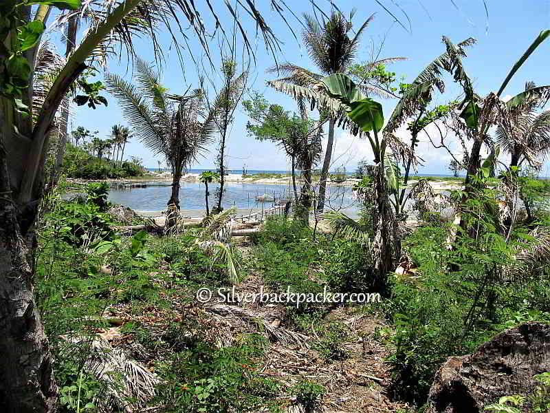 Malalison Island Salt water lagoon Antique