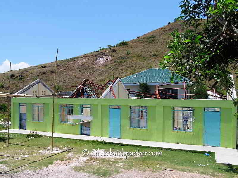 Malalison Island no school roof due to Yolanda