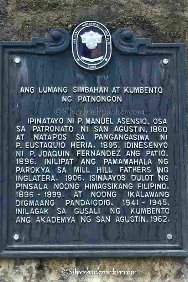 Historical Marker St. Augustine, Patnongon Historical Markers and Monuments Antique, Philippines