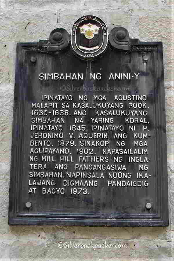 St. John de Nepomuceno Church, Anini-y, Historical Markers and Monuments Antique, Philippines Restoration work 2017