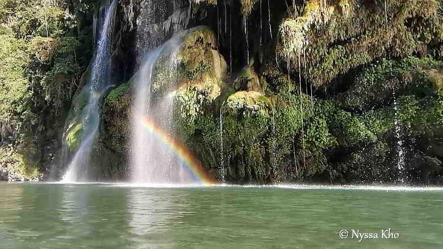 Pangot, Ararbis Falls with rainbow, Lagayan, Abra Photos 2019