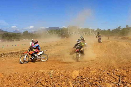 La Paz Motocross Race Track. Cong JB Bernos Motocross, La Paz, Abra