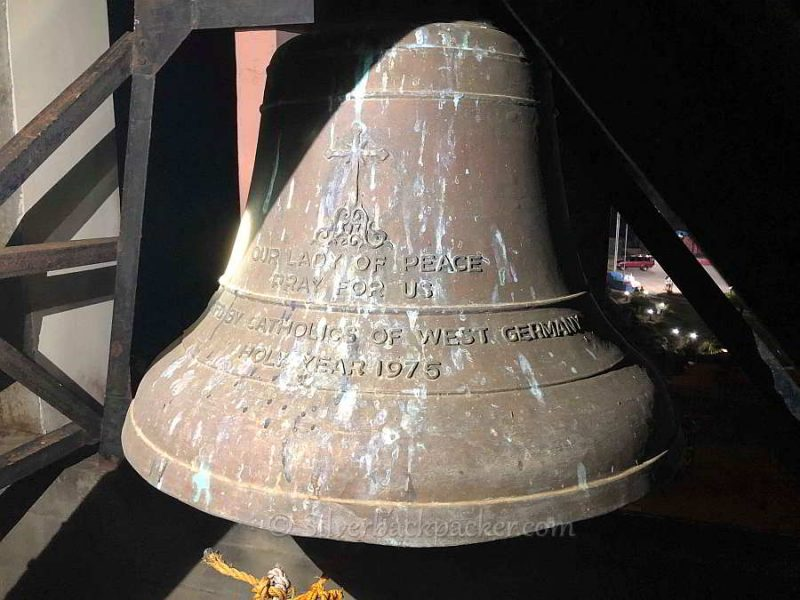 La Paz church bell 1975 from W Germany