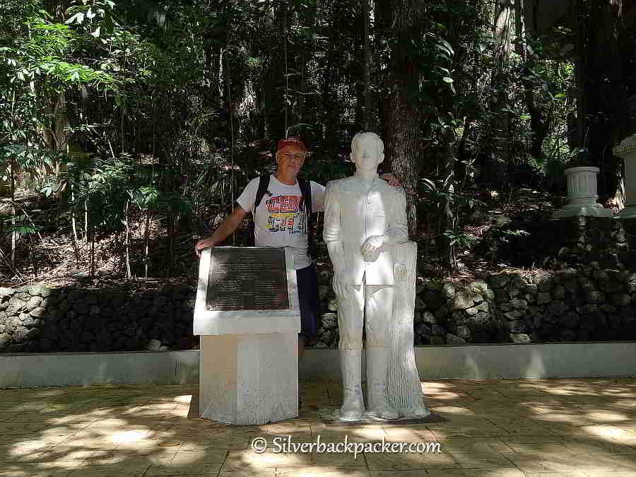 With Statue of Jose Rizal in Dapitan Rizal Shrine gardens