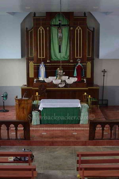 San Quintin Altar from Pidigan old church, Abra, Philippines