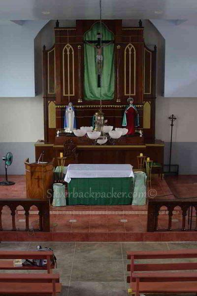 San Quintin Altar from Pidigan old church, Abra, Philippines