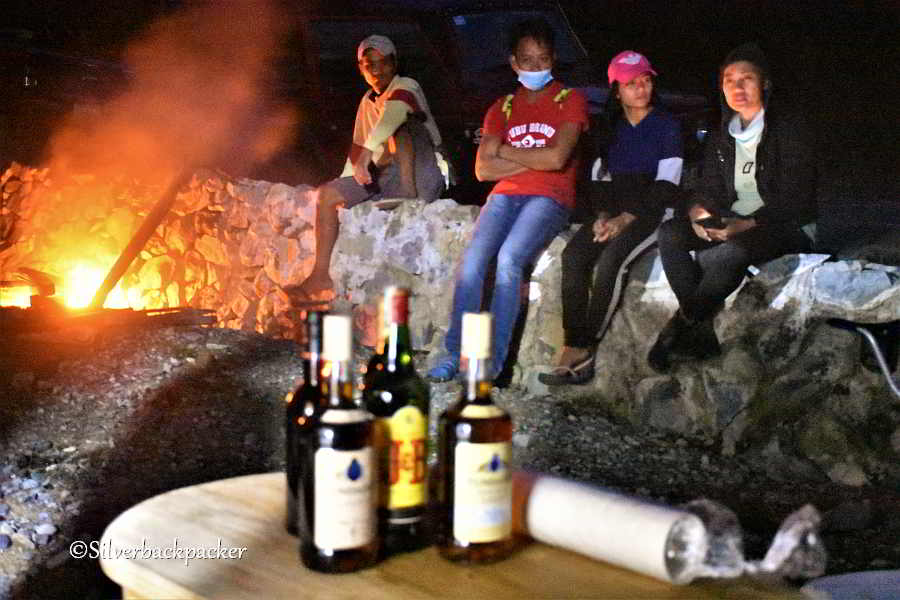 Hilltop Resthouse, evening gathering with friends, Nagpaoayan, Abra, Philippines