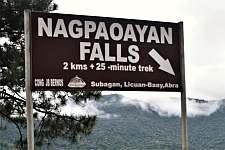 Nagpaoayan Falls Signpost