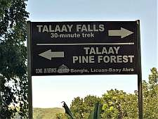 Talaay Falls and Pine Forest Signpost
