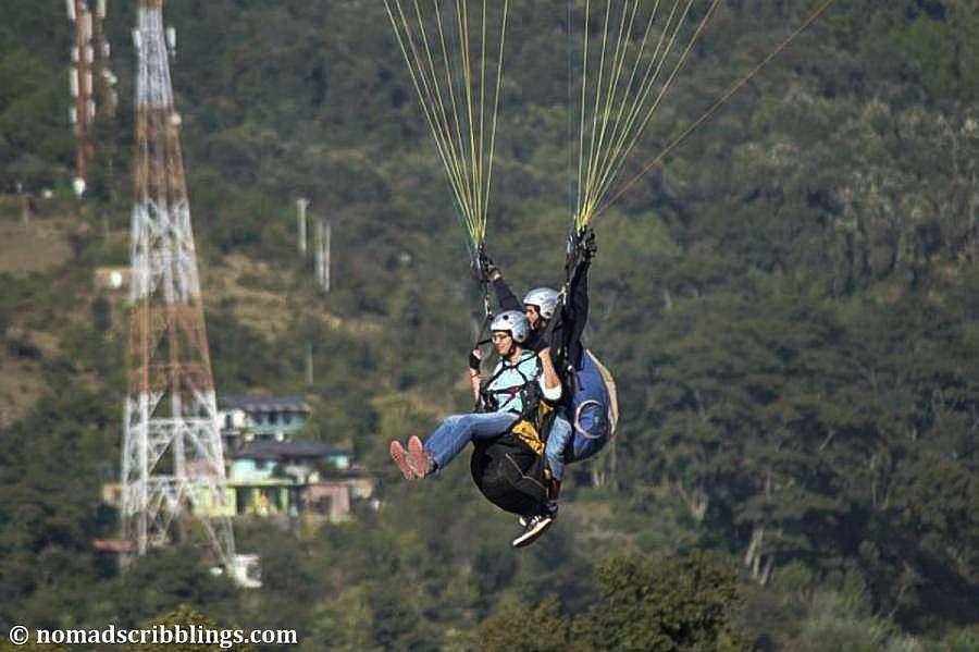 paragliding over the Himalayas at Bir and Billing, Palampur