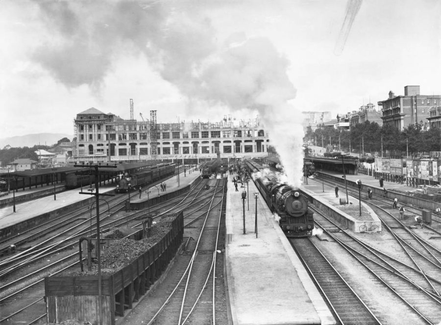 Free things to do in Adelaide - The Railway station under construction 1927