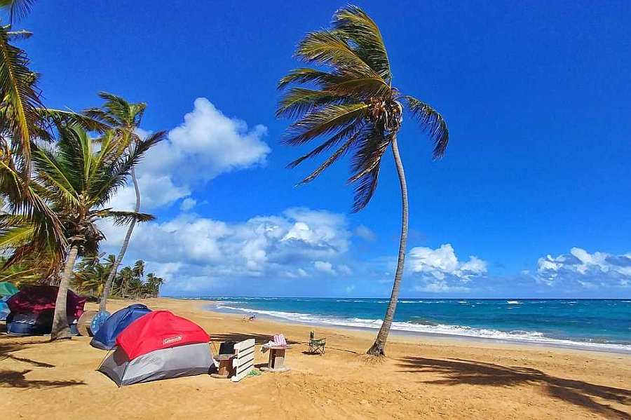 A Beach in the  Dominican Republic unusual places to sleep
