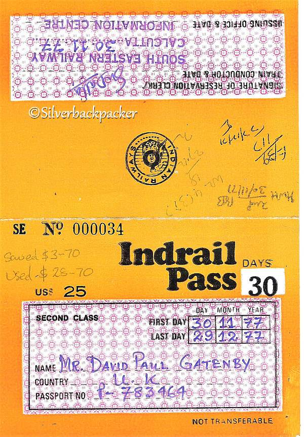 Indrail Pass 1977
