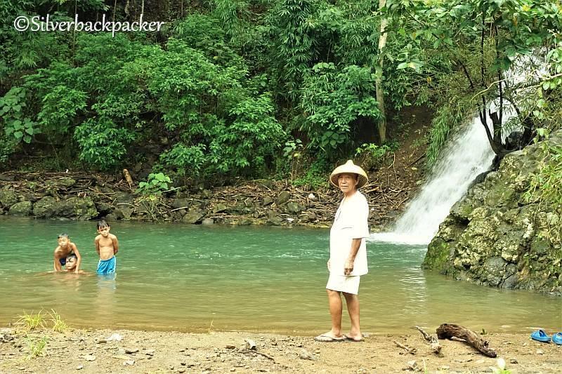 Teofilo Garcia at Tangke Falls, San Quintin