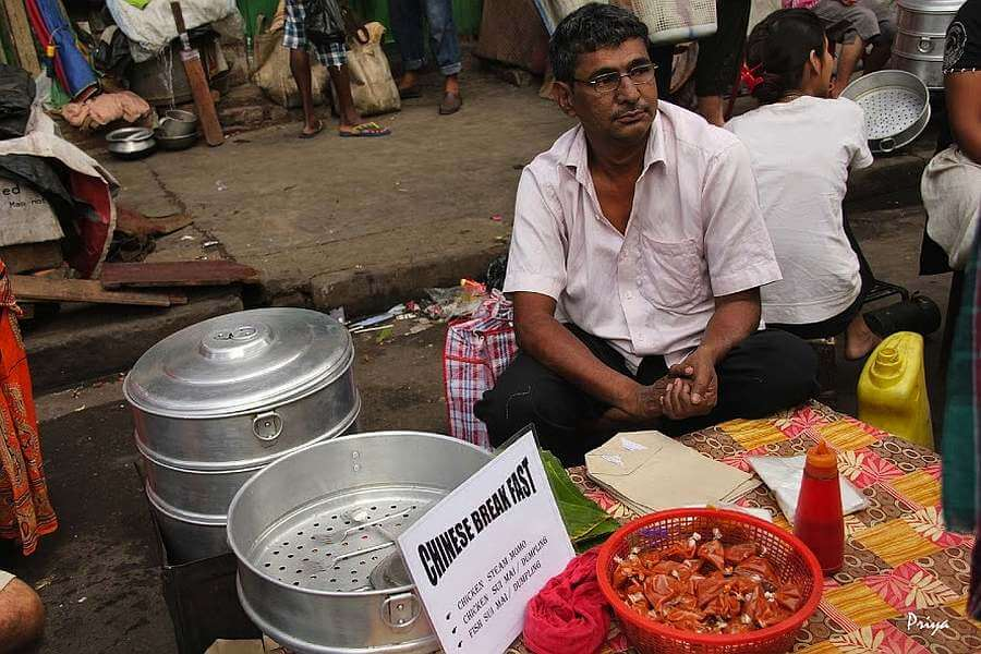 tiretti bazaar sunday chinese breakfast Kolkata, India