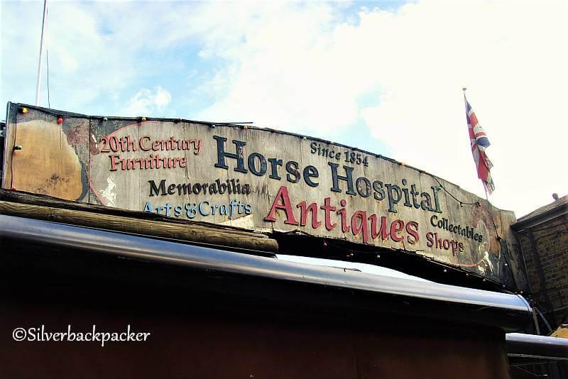 August 2011 Horse Hospital Sign Camden Market